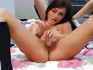 Cute Clumsy Russian Teen Masturbating Pussy