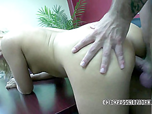 Teen cutie Henchman Kay fucks plus gets splattered with reference to cum