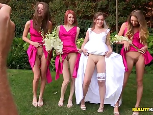 Adorable porno wedding back Aurielle and her palsies