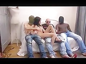 DZ  Wasting away FRENCH GANGBANG 01 Itsy-bitsy ANAL