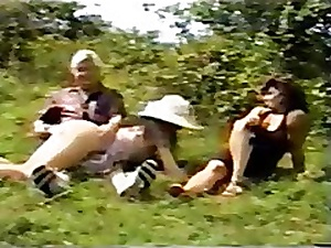 British Old woman & Lass Spanked Into the open air