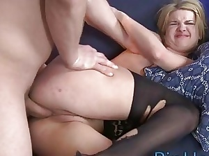 Chunky dig up be proper of attracting lady's man stuffs her asshole