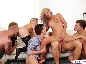 Assfucking studs slamming cooters in groupsex