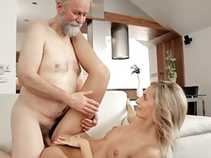 Mature dude tears up magnificent wife in senior and young flick