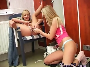 Amateur girl/girl assfuck belt cock Youthful lezzies having joy in